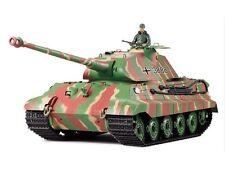 Heng Long 1:16 2.4G Radio Remote Control King Tiger RC Tank BB Smoke Sound Camo