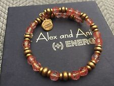 NEW RARE ALEX and ANI Crystal ROSE MOSAIC SOUK Russian GOLD Beaded WRAP BRACELET