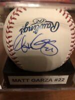 Matt Garza Autographed Major League Baseball (Selig)
