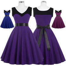 Women Vintage Retro Style 60S 1970s Housewife Cocktail Party Swing Dance Dresses