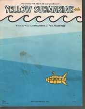 Yellow Submarine 1966 Beatles Sheet Music