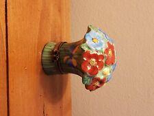 Limoges Trinket box peint main Porcelain Bouquet of Flowers