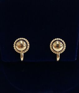Fine Clip On Stud Earrings 375 (9ct) Yellow Gold - 15mm x 10mm - 2.2 grams