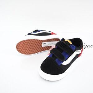 No Box New Vans Toddler Old Skool V Shoes Canvas Suede Color Block Multi Size 8C