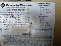 Franklin Electric 1081 Pool Motor 2 HP 115/208-230 V 3450 RPM