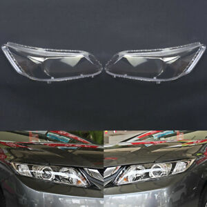 Pair For Honda Civic 2012~2014 Headlight Cover Car Headlamp Lens Auto Shell