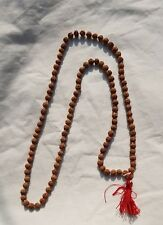RUDRAKSHA MALA HINDU 108 + 1 BEADS NECKLACE - 7 MM SIZE NEPAL NATURAL RUDRAKSHA