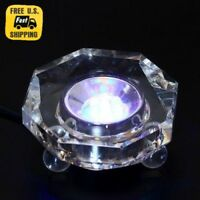 Colored 7LED lights Crystal Stand Base NEW With Charger Illuminated Display