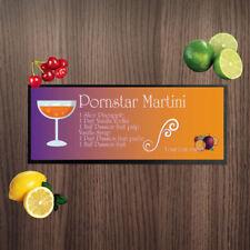 Personalised Pornstar Martini Ingredients Design Bar Runner Cocktail Bar Towel