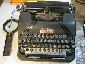 vintage smith and corona sterling typewriter