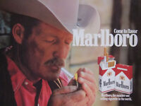 PUBLICITÉ DE PRESSE 1987 COME TO FAVOR MARLBORO THE NUMBER ONE -- COW-BOY