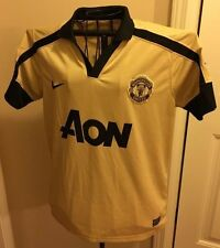 AUTHENTIC MANCHESTER UNITED 2012-13 CHAMPIONSHIP JERSEY NIKE AON GOLD DRI FIT M