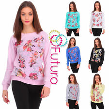 Cotton Long Sleeve Floral Jumpers & Cardigans for Women