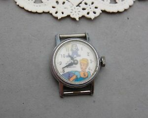 """Cinderella Watch Vintage Walt Disney Productions Not Run No Band 3/4"""" Stainless."""