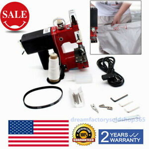 Portable Handheld Industrial Stitcher Knitted Sewing Machine Sewing Machine Portable Electric Bag Stitching Closing Machine US Plug 110V