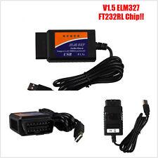 Mini 2016 ELM327 interface usb voiture suv OBD2 fault diagnostique scanner 5LED lights