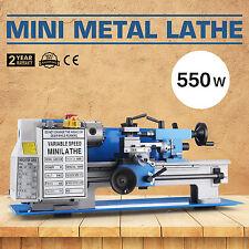 "7""x12"" Mini Metal Lathe Metalworking Woodworking Bench Top Metal Gears 2250RPM"