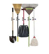 10 Pack Heavy Duty Spring Grip Multi Tool Rack Broom Holder Storage Organizer