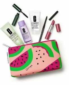 SALE - CLINIQUE BLOOM SUMMER ESSENTIALS 7-PIECE SET WITH COSMETIC BAG (98 VALUE)