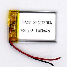 3.7v 140mAh Li-polymer Rechargeable Battery LiPo Li-ion for GPS MP3 MP4 302030