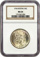 1934 Boone 50c NGC MS64 - Low Mintage Issue - Silver Classic Commemorative