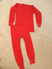 Vintage Je Morgan Red Thermal Long Johns Large Shirt & Small Underwear Men's