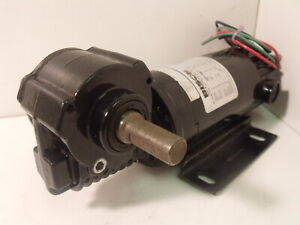 Bison 021-746-9015 DC Gearmotor:  26in-lbs, 15:1, 90/130V, 120/173RPM