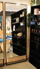 NEW - Minimal Modern Simple Black Iron Frame Indoor Full Length Loop Leg Mirror