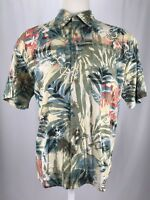 The Territory Ahead Short Sleeve Button Up Multicolored Floral Shirt Men's Sz XL