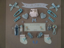 *24* BABY BOY *Son* CARD MAKING EMBELLISHMENTS, TOPPERS. BABY BOY SCRAPBOOKING