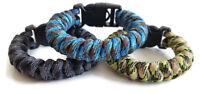Paracord Bracelet Black 550 Snake Knot Handcuff Key Buckle U.S. Seller Handmade