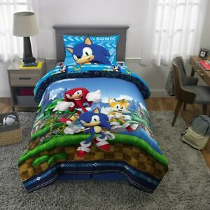 Sonic The Hedgehog Twin / Full Bedding 2 Pc Bed Set Comforter Sheets pillow