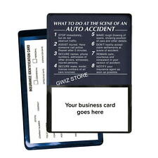 Auto Insurance Registration Card Holders - At The Scene Of An Auto Accident Blue