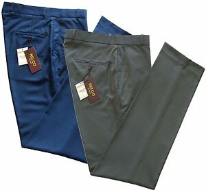 Relco Men's Sta Press Tonic Trousers 2 Tone Blue Green Stay Pressed Mods Skins