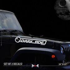 2x DARK SIDE EDITION JEEP Wrangler CJ TJ YK JK Star Wars Car Vinyl Sticker Decal