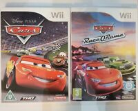 Disney Pixar Cars & Cars Race-O-Rama Nintendo Wii Complete With Manuals! 2 Games