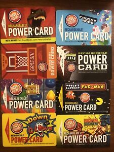 Dave And Buster Power Cards With Over 10,000 Tickets!!!