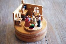 Spieluhr Spieldose GRAUPNER HOLZMINIATUREN ERZGEBIRGE Spielzeugmacherwerkstatt