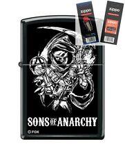 Zippo 5732 sons of anarchy reaper Lighter with *FLINT & WICK GIFT SET*