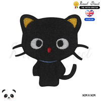Black Cat Cute Disney Embroidered Iron On Sew On Patch Badge For Clothes etc