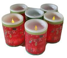 Fake Faux Christmas LED Candles Set Of 6 Uses CR2032 Battery Holiday Decor