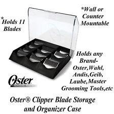 OSTER Clipper Blade STORAGE&ORGANIZER CASE Holder Shelf*Also For Andis,Wahl,Geib