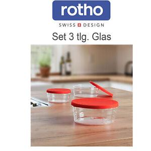 Mikrowellengeschirr Glas Silikon 3tlg. Set Mikrowelle Backofen Gefrierschrank