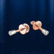 Zoloto 585 Ohrstecker mit Diamanten  T13102011
