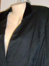 Jones New York Jacket 14 Woman Petite Silk La Scala NEW with Tags Velvet Collar