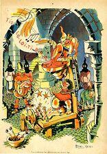 """""""LA TYROLIENNE AU MOYEN ÂGE par MIXI-BEREL"""" Illustration originale entoilée"""