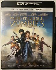 PRIDE & PREJUDICE AND ZOMBIES 4K ULTRA HD BLU RAY 2 DISC SET FREE WORLD SHIPPING