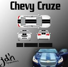 Chevy Cruze Dual Rally Racing Stripes Vinyl Decal Sticker Graphics Kit Car