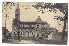 vitré , église saint-martin ,façade sud, bel édifice roman