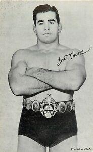 Vintage Arcade Card; Wrestler Lou Thesz, 3 Time NWA World Heavyweight Champion